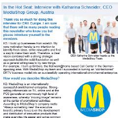 In the Hot Seat: Interview with Katharina Schneider, CEO MediaShop Group, Austria